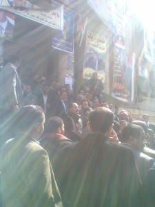 صورة لاعتصام المحامين